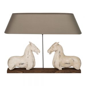 Ancient horse lamp white