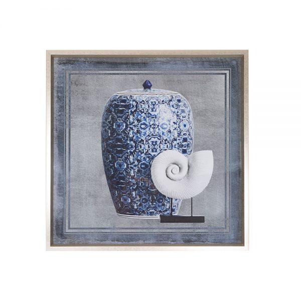 Blue urn artwork