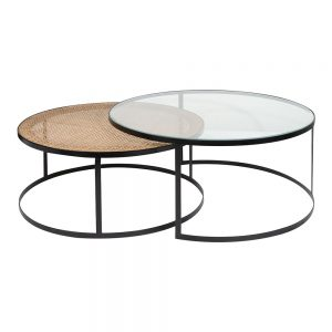 Plantation round coffee table