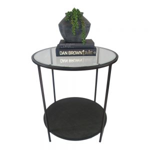 Plantation Black Side Table