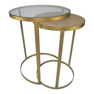 Plantation Brass Nesting Side Table