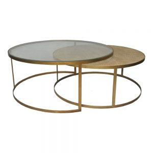 Plantation Round Coffee Table Brass